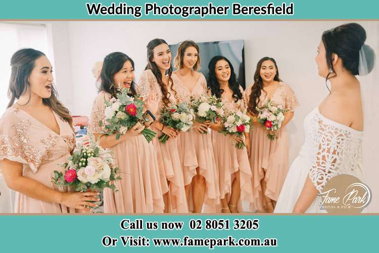 Photo of the Bride with her excited brides maid Beresfield NSW 2322