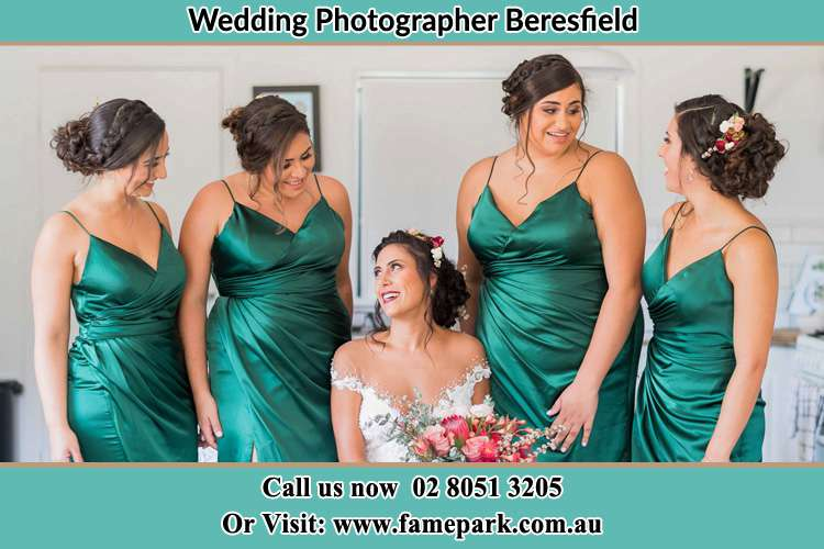 The Bride and her bridesmaids chatting each other Beresfield