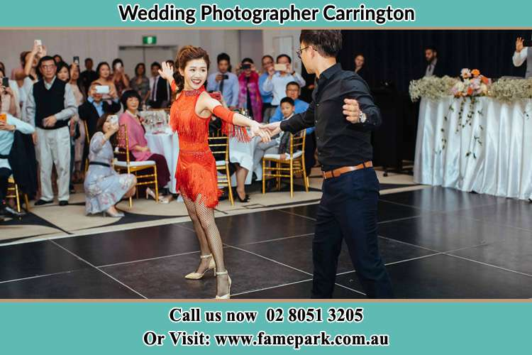 Photo of the Bride and the Groom dancing Carrington NSW 2294