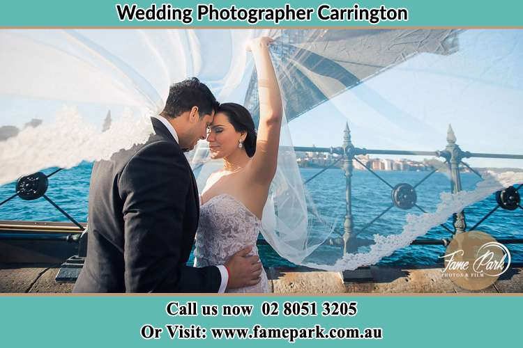 Romantic photo of the Bride and the Groom Carrington NSW 2294