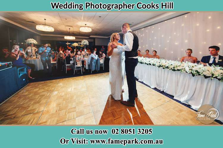 Photo of the Bride and the Groom dancing Cooks Hill NSW 2300