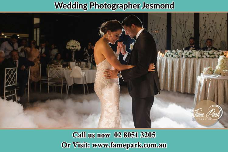 Photo of the Bride and Groom dancing Jesmond