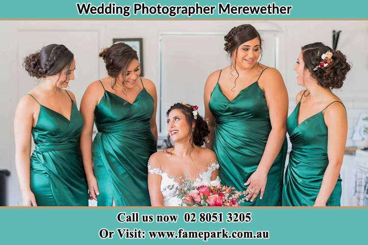 Photo of the Bride with her bridesmaids Merewether NSW 2291