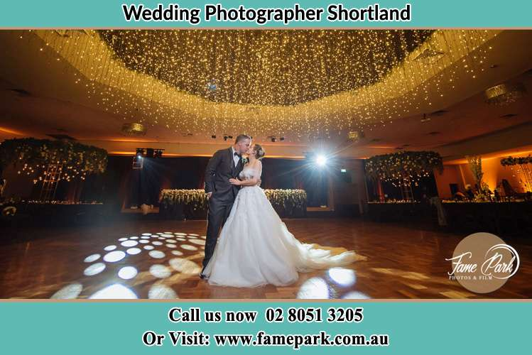 Photo of the Groom and the Bride kissing Shortland NSW 2307