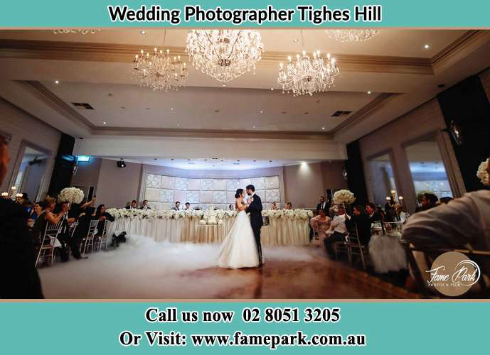 Photo of bride and groom dancing Tighes Hill