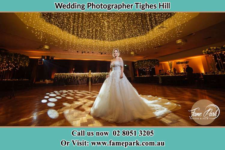 Photo of the Bride at the dancing floor Tighes Hill